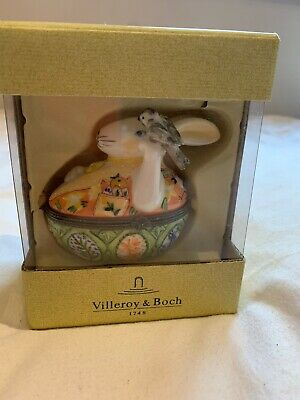 Villeroy & Boch Porcelain Trinket Box Rabbit • 5£