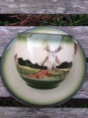 Torquay Ware - Green Cup And Saucer • 3£
