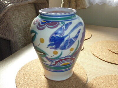 Large Carter Stabler Adams Poole Pottery Red Clay Bluebird Vase • 9.99£