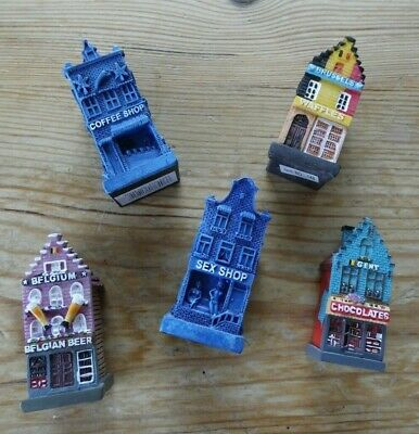 Miniature Houses Belgian 3  Tall Collectables Set Of 5 • 10£