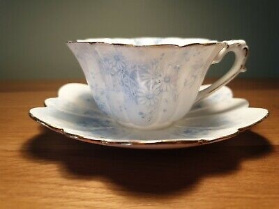 Wileman Shelley Empire Cup & Saucer - RARE - Daisy Cluster Pattern • 15.70£