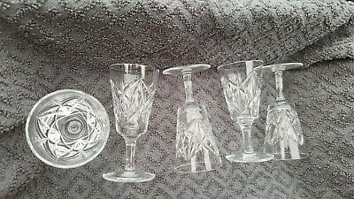 Five Lead Crystal Sherry / Port / Liqueur Drinking Glasses 50ml • 3.40£