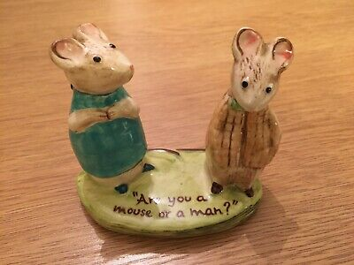 Beswick Kitty MacBride  Strained Relations  Mice Mouse Figurine 2532 • 5.50£