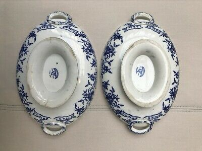 Pair Of Victorian Early Wedgwood & Co Indiana Tureens/Serving Bowls 1870 • 19.99£