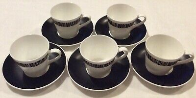 Royal Tuscan Cascade Pattern 5 X Coffee Espresso Cups And 6 Saucers • 12£