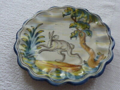 Mexican Mave Talavera Majolica Style Pottery Plate Hare And Tree Pattern • 4.99£