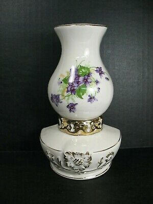 Porcelain Lantern Shaped Wall Pocket Flowers • 8.94£