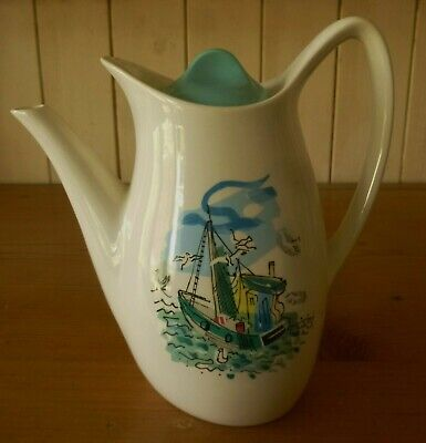 Midwinter Coffee Pot FISHING BOAT By Charles Cobelle 1950s  • 19.99£