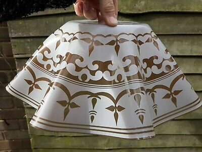 Rare Very Large Vintage 1950s Chance Style Glass Handkerchief Lightshade  • 20£