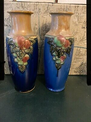 A BEAUTIFUL Pair Of Royal Doulton Stoneware Vases • 130£
