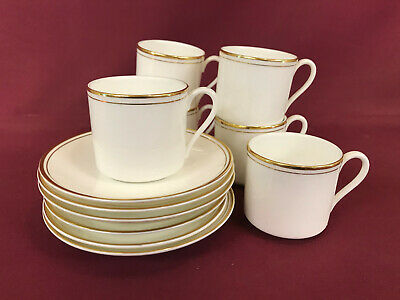 ROYAL DOULTON GOLD CONCORD 6x COFFEE CUPS+SAUCERS - BRAND NEW/UNUSED Made In Eng • 7.99£