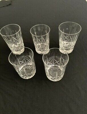 "Stuart ""CROSS AND OLIVE"" Whiskey Tumblers Approx 8oz CUT CRYSTAL • 22.99£"