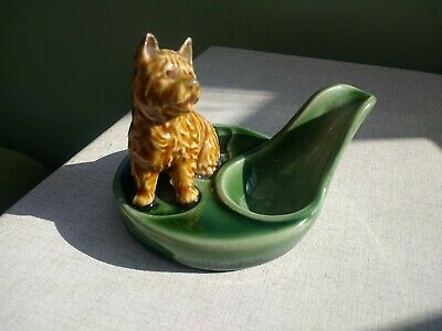 Vintage Wade Ceramic Pipe Stand With Yorkshire Terrier • 10£