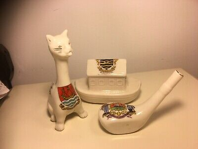 3 Large Crested Ware Items  2 X Arcadian  • 5£