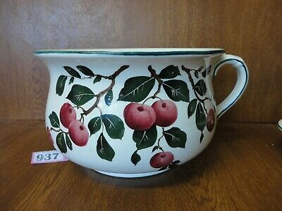 #1) Large Vintage Wemyss Chamber Pot / Potty / Planter - Cherries • 59.95£