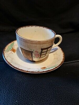 Burlington Ware Cottage Ware Teacup And Saucer Vintage Collectible Pottery • 2.99£