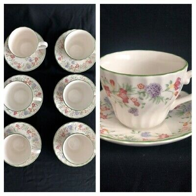 CHURCHILL EMILY 6 X  CUPS AND SAUCERS • 14.99£