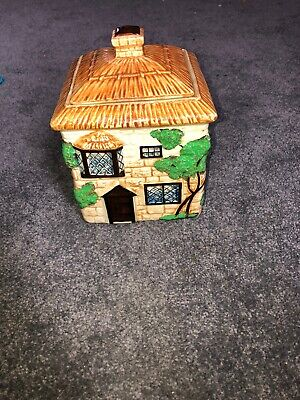 Early Beswick Cottage Ware Biscuit Jar C1930 John Beswick Pottery Hans Painted • 8£