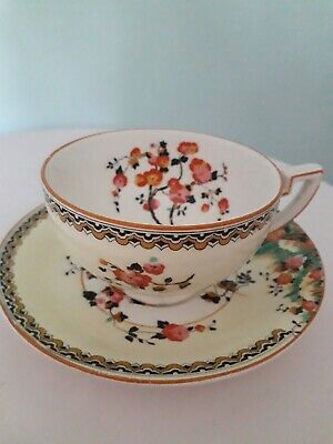 Crown Ducal Art Deco Antique Blossom Cup And Saucer  • 4.50£