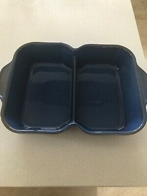 Denby Imperial Blue Double Dish • 9.50£