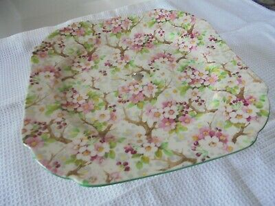 Shelley 'Maytime' 8787 Cake Stand Chintz. C1939. • 36£