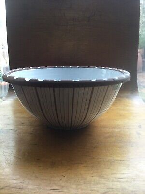 Large Early Rye Ceranic Bowl Wally Cole • 45£