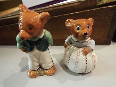 2 Vintage W R Midwinter Ltd ? Burslem Mr & Mrs Bear No Damage • 10£