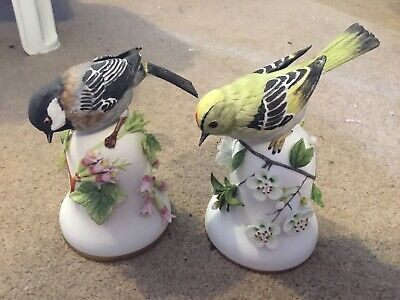 Franklin Mint Goldcrest And Chickadee Porcelain Bell By Peter Barrett 1980s • 17.99£