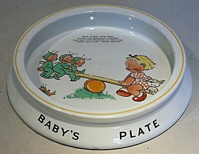 Shelley Mabel Lucie Attwell Baby Dish - See-Saw • 55£