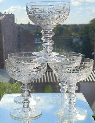 Royal Brierley Quality Champagne Glass/saucer   X 6 • 125£