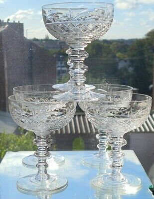 Royal Brierley Quality Vintage Champagne Glass/ Coups  X 6 • 125£