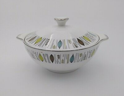 Vegetable Dish Vintage Corinth Alfred Meakin Glo - White Covered Lidded Serving  • 14.99£