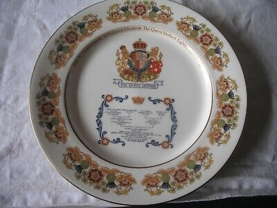 The QUEEN MOTHER'S 80th Birthday Aynsley Plate • 12.99£