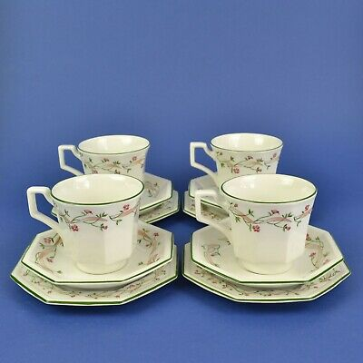 4 X Johnson Brothers Eternal Beau Trios Cups / Saucers / Side Plates • 15£