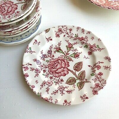 Starter, Bread & Butter Side Plate 'Rose Chintz Pink' JOHNSON BROTHERS Cake • 8.99£