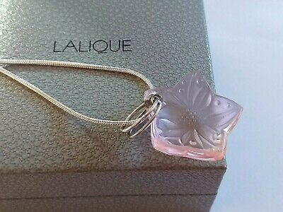 PENDANT LALIQUE -Crystal Glass Pendant/  Very Pretty Pink -Stunning Colour RARE  • 145£