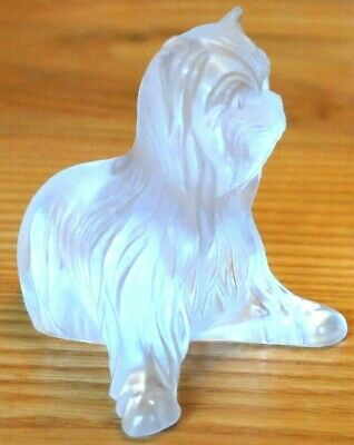 Lalique Yorky Dog Sitting ~  Detail Is Superb & Outstanding   • 175£