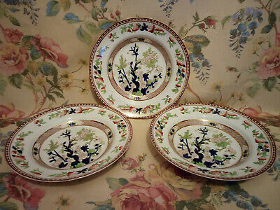 Lot Of 3 Indian Tree Design Plates By Solian Ware Soho Pottery • 20£
