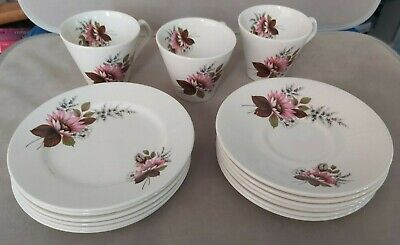 Vintage Lord Nelson, Countess Pink Floral Tea Set. Cups/saucers//side Plates.  • 15.25£