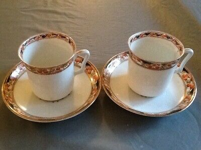 Two X Vintage Sutherland ART China Duos, Orange And Gilt Pattern 866 • 3.60£