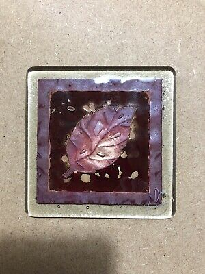 Lovely Jo Downs Leaf Design Coaster Pre Owned But Hardly Used In VGC • 8.90£