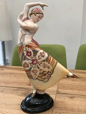 Antique Vintage GOLDSCHEIDER DANCING FIGURE C.1930 Repaired  • 50£