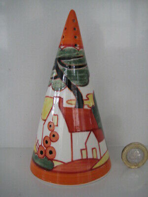 Wedgwood Clarice Cliff Bizarre Centenary Red Roofs Sugar Shaker Sifter Art Deco • 74.99£