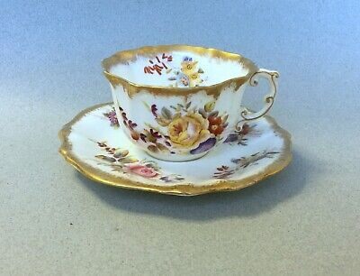 ANTIQUE HAMMERSLEY DRESDEN SPRAYS BONE CHINA CUP And SAUCER  • 6.99£