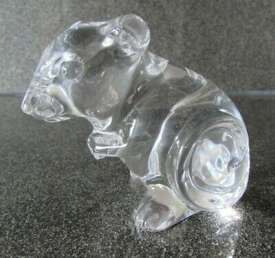 Rare Princess House  Pets  24% Lead Crystal Mouse Paperweight Animal Figure • 12£