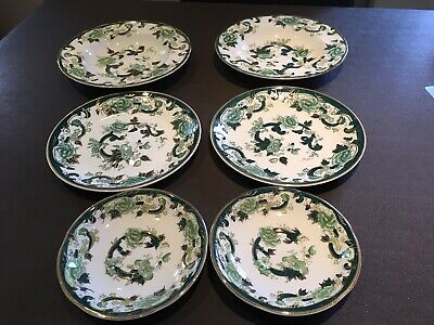 Masons Ironstone Green And Gold Chartreuse 6 X Peases • 6.50£