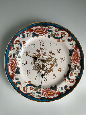 Mason's Ironstone China Java Pattern Plate Wall Clock • 9.99£