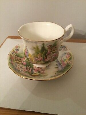 1990 Royal Adderley Floral Gardens Tea Cup And Saucer  • 10£