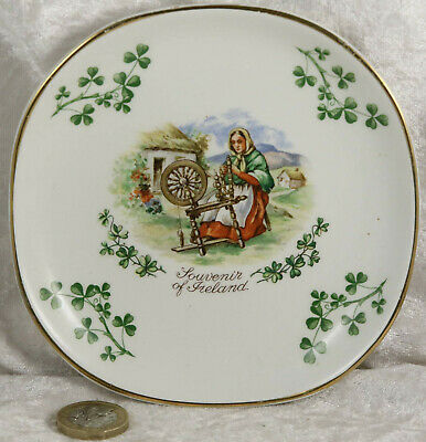 Irish Souvenir Ware Ireland Pin Tray 5 Inches Across  Shamrock Collectable Item  • 2£