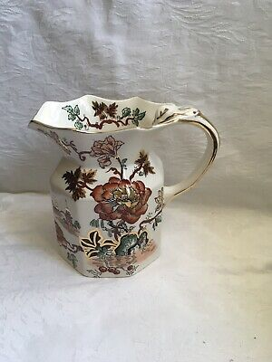 Mason's Ironstone Golden Azalea Jug 6 In Tall • 1.90£